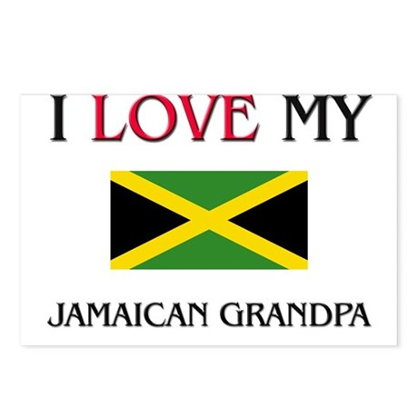 I Love My Jamaican Grandpa Postcards (Package of 8