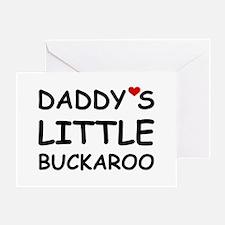 DADDY'S LITTLE BUCKAROO Greeting Card