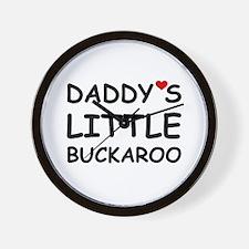 DADDY'S LITTLE BUCKAROO Wall Clock