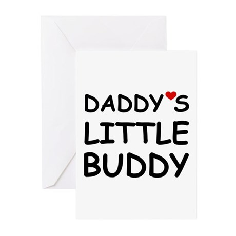 DADDY'S LITTLE BUDDY Greeting Cards (Pk of 10)