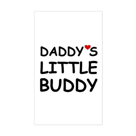 DADDY'S LITTLE BUDDY Rectangle Sticker
