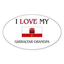 I Love My Gibraltar Grandpa Oval Decal