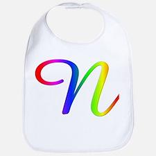 Rainbow Cursive N Bib