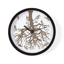 Tree Ravens Wall Clock