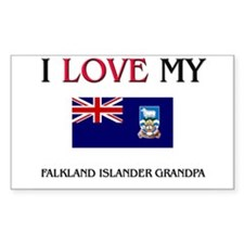 I Love My Falkland Islander Grandpa Decal