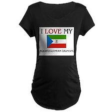 I Love My Equatoguinean Grandpa T-Shirt
