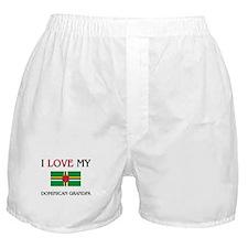 I Love My Dominican Grandpa Boxer Shorts