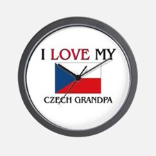 I Love My Czech Grandpa Wall Clock