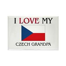 I Love My Czech Grandpa Rectangle Magnet