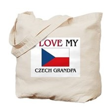 I Love My Czech Grandpa Tote Bag