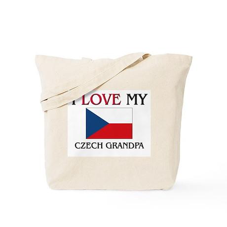 I Love My Czech Grandpa Tote Bag