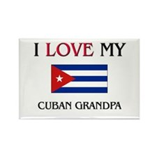 I Love My Cuban Grandpa Rectangle Magnet