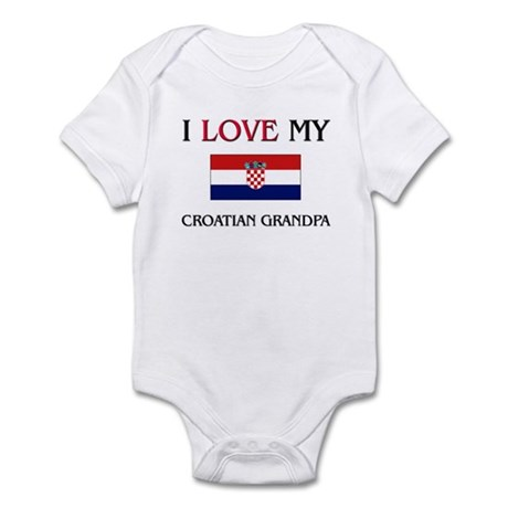 I Love My Croatian Grandpa Infant Bodysuit