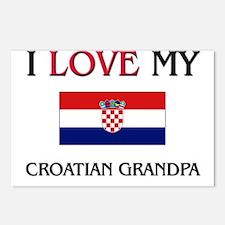 I Love My Croatian Grandpa Postcards (Package of 8