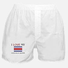 I Love My Costa Rican Grandpa Boxer Shorts