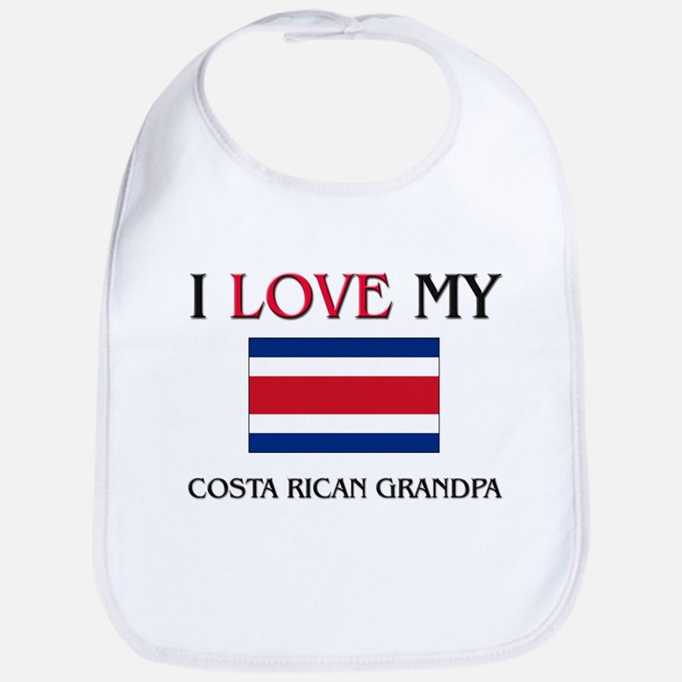 I Love My Costa Rican Grandpa Bib