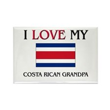 I Love My Costa Rican Grandpa Rectangle Magnet