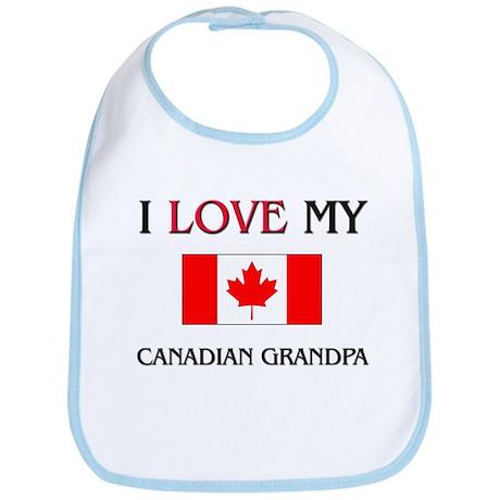 I Love My Canadian Grandpa Bib