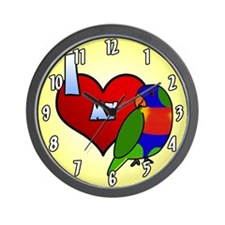 I Love My Rainbow Lorikeet Clock (Cartoon)