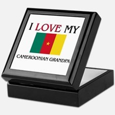 I Love My Cameroonian Grandpa Keepsake Box