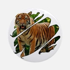 See Through Tiger Ornament (Round)