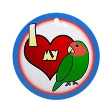 I Love My Peachfaced Lovebird Ornament (Cartoon)