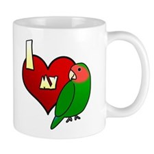Love Peachfaced Lovebird Mug