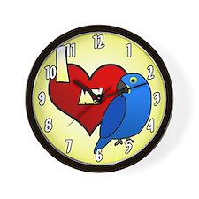 I Love My Hyacinth Macaw Clock (Cartoon)