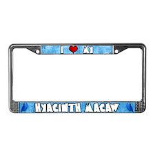 Love Hyacinth Macaw License Plate Frame Cartoon