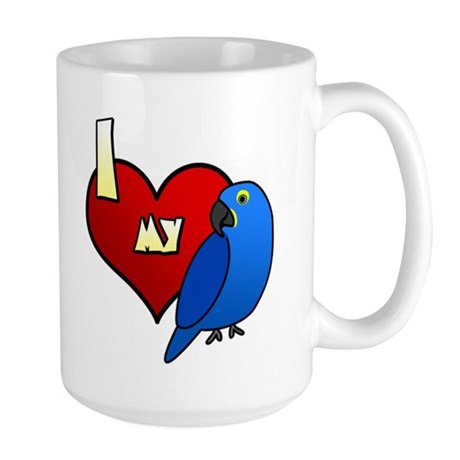 Love Hyacinth Macaw Large Mug