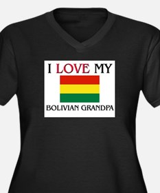 I Love My Bolivian Grandpa Women's Plus Size V-Nec