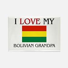 I Love My Bolivian Grandpa Rectangle Magnet