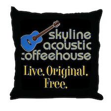Acoustic Coffeehouse Throw Pillow