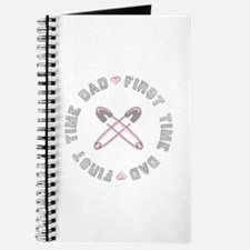 First Time Dad Girl Pink Journal