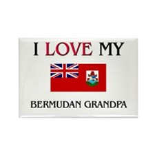 I Love My Bermudan Grandpa Rectangle Magnet