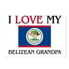 I Love My Belizean Grandpa Postcards (Package of 8