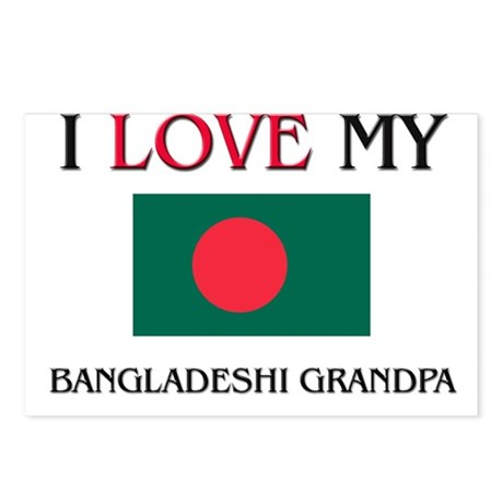 I Love My Bangladeshi Grandpa Postcards (Package o