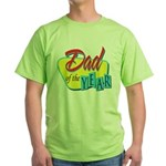 Dad of the Year Green T-Shirt