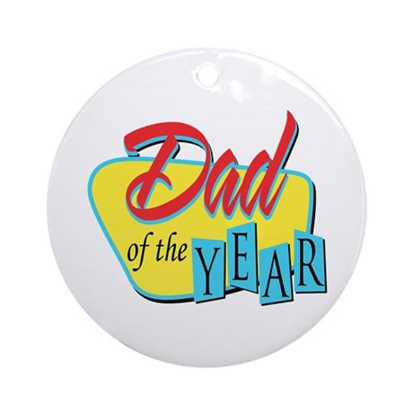 Dad of the Year Ornament (Round)