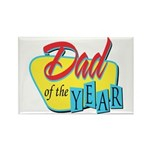 Dad of the Year Rectangle Magnet (100 pack)