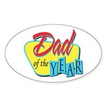 Dad of the Year Oval Sticker (10 pk)