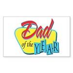 Dad of the Year Rectangle Sticker 50 pk)