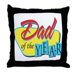 Dad of the Year Throw Pillow