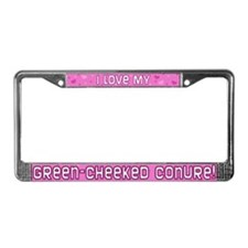 Pink Plk Dt Greencheek Conure License Plate Frame