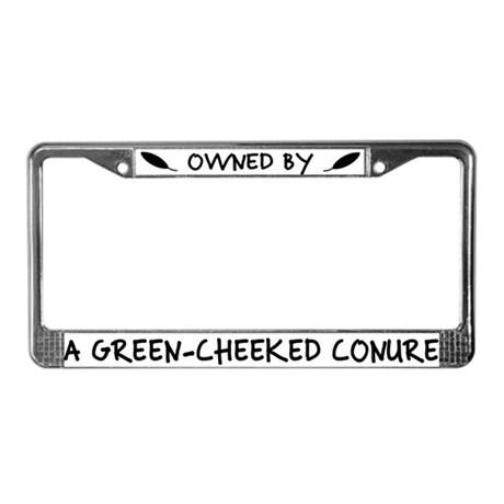 Owned by a Greencheek Conure License Plate Frame