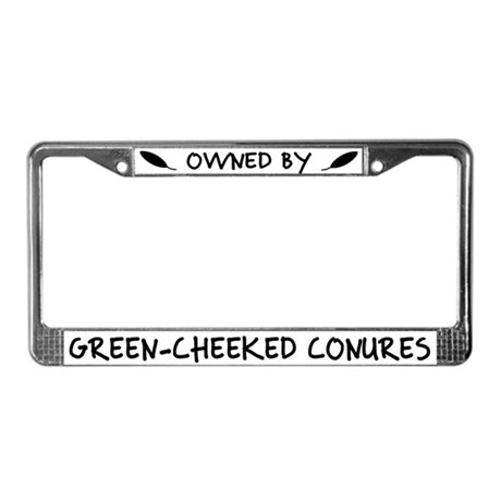 Owned by Greencheek Conures License Plate Frame