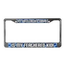 Green-Cheeked Conure Fthrd Kid License Plate Frame