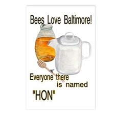 bees love Baltimore HON Postcards (Package of 8)