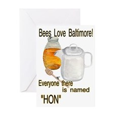 bees love Baltimore HON Greeting Card