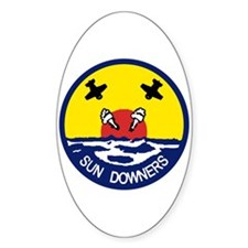 VFA 111 Sun Downers Oval Decal